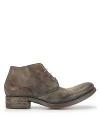 braune Chukka-Stiefel aus Leder von A Diciannoveventitre