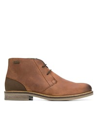 braune Chukka-Stiefel aus Leder von Barbour