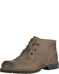 braune Chukka-Stiefel aus Leder von Ecco