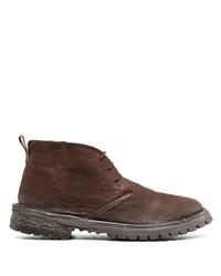 braune Chukka-Stiefel aus Leder von Moma
