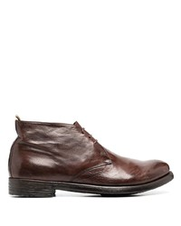 braune Chukka-Stiefel aus Leder von Officine Creative