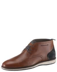 braune Chukka-Stiefel aus Leder von PETROLIO