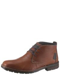 braune Chukka-Stiefel aus Leder von Rieker