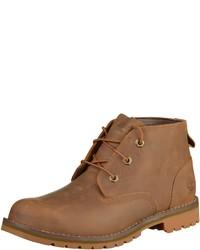 braune Chukka-Stiefel aus Leder von Timberland