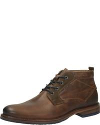 braune Chukka-Stiefel aus Leder von Venturini