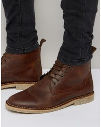 braune Chukka-Stiefel aus Wildleder von Asos