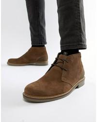 braune Chukka-Stiefel aus Wildleder von Barbour