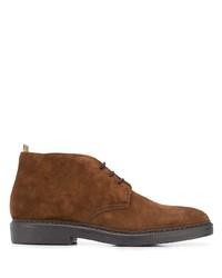 braune Chukka-Stiefel aus Wildleder von Doucal's