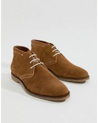 braune Chukka-Stiefel aus Wildleder von Dune