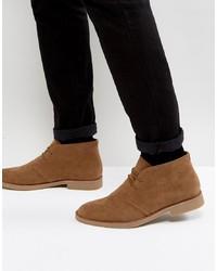braune Chukka-Stiefel aus Wildleder von New Look