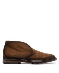 braune Chukka-Stiefel aus Wildleder von Officine Creative
