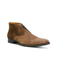 braune Chukka-Stiefel aus Wildleder von Santoni