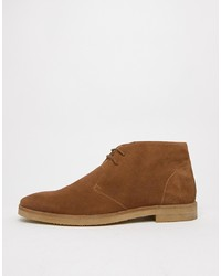 braune Chukka-Stiefel aus Wildleder von WALK LONDON
