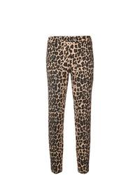 braune enge Hose mit Leopardenmuster von P.A.R.O.S.H.