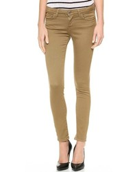 braune enge Jeans