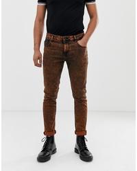 braune enge Jeans von ASOS DESIGN