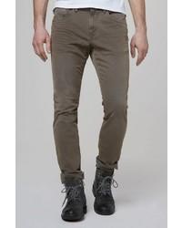 braune enge Jeans von Camp David
