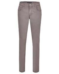 braune enge Jeans von Daniel Hechter