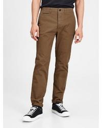braune enge Jeans von Jack & Jones
