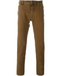 braune enge Jeans von Jacob Cohen
