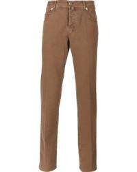 braune enge Jeans von Kiton