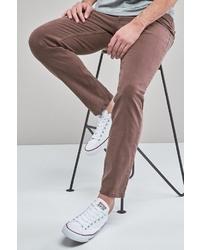 braune enge Jeans von next