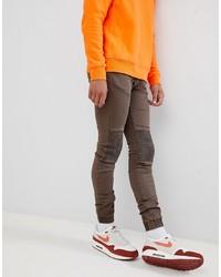 braune enge Jeans von Sixth June
