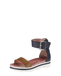 2df44047e33507 Modische braune flache Sandalen aus Leder für Winter 2019 kaufen ...