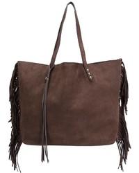 braune Fransen Shopper Tasche aus Wildleder von Rebecca Minkoff
