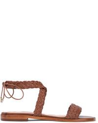 7853b01274ddc5 Alexandre Birman braune geflochtene Ledersandalen von Alexandre Birman  Ausverkauft · braune geflochtene Ledersandalen von Alexandre Birman