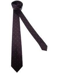 braune gepunktete Krawatte von Dolce & Gabbana