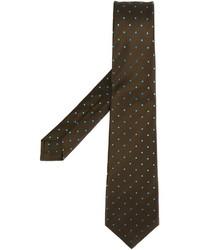 braune gepunktete Krawatte von Kiton