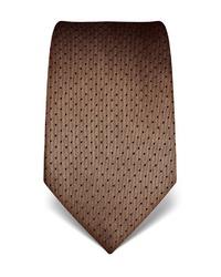 braune gepunktete Krawatte von Vincenzo Boretti