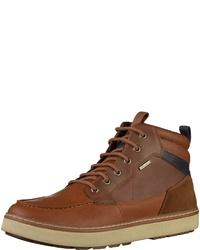 braune hohe Sneakers aus Leder von Geox