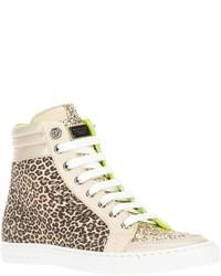 braune hohe Sneakers