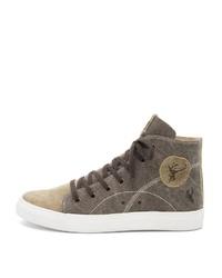 braune hohe Sneakers von SPIETH & WENSKY