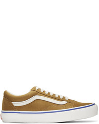 braune horizontal gestreifte Wildleder niedrige Sneakers von Vans