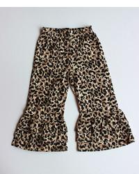 braune Hose mit Leopardenmuster