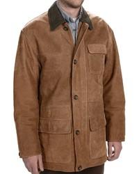 braune Jacke mit einer Kentkragen und Knöpfen