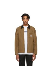 braune Jacke mit einer Kentkragen und Knöpfen von CARHARTT WORK IN PROGRESS