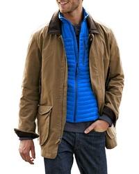braune Jacke mit einer Kentkragen und Knöpfen von Eddie Bauer