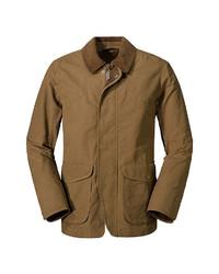 braune Jacke mit einer Kentkragen und Knöpfen von Eddie Bauer Toppenish Field Jacke
