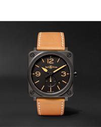 braune keramische Uhr von Bell & Ross