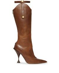 braune kniehohe Stiefel aus Leder von Burberry