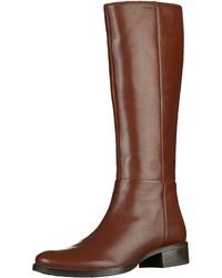 braune kniehohe Stiefel aus Leder von Geox