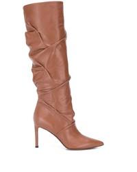 braune kniehohe Stiefel aus Leder von L'Autre Chose