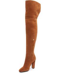 braune kniehohe Stiefel aus Wildleder von Giuseppe Zanotti