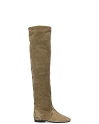 braune kniehohe Stiefel aus Wildleder von Isabel Marant
