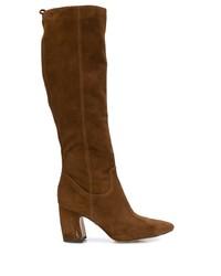 braune kniehohe Stiefel aus Wildleder von Sam Edelman