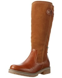 braune kniehohe Stiefel von Tamaris